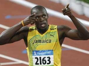 test de atletismo imagenes de usain bolt 100 metros lisos masculino