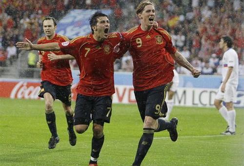 test de futbol eurocopas david villa fernando torres andres iniesta euro 2008