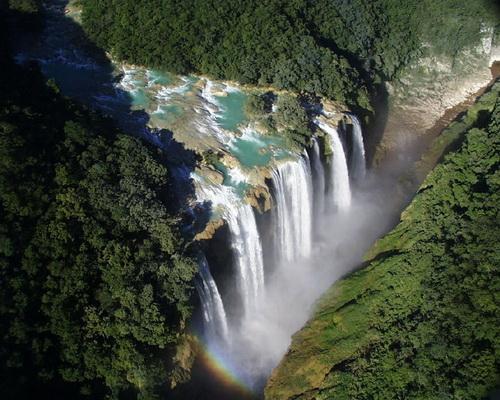 test destinos turisticos de america latina imagen catarata arco iris