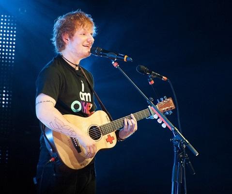 test quien es el cantante de la foto - Ed Sheeran